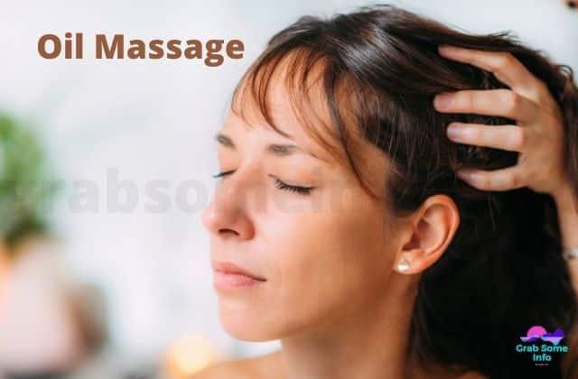 Oil massage for hair density