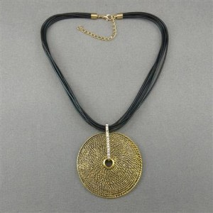 Discie gold plated necklace