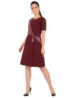 Maroon cross tie dress Grab Your Garb