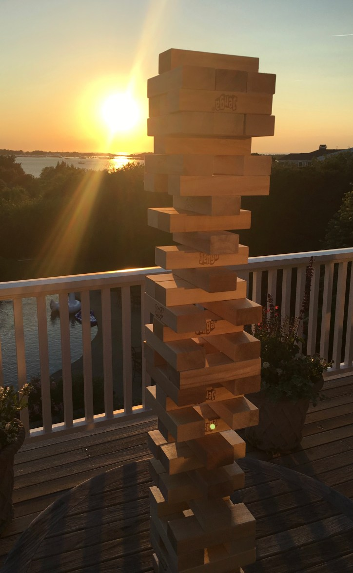 Jenga at sunset