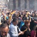 Blagodatni oganj u Gračanici na drugi dan Vaskrsa