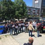Протест српских новинара у Приштини