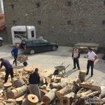 Припремљена дрва за сестринство манастира Гориоч