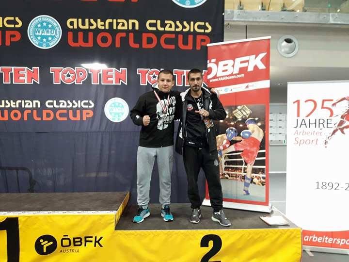 Nikola Kovačević osvojio drugo mesto na svetskom šampionatu u ful kontaktu u Austriji