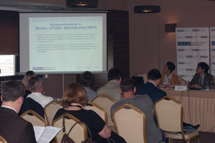 Misija OEBS-a na Kosovu: Zastupljenost zajednica u javnoj admiistraciji na Kosovu