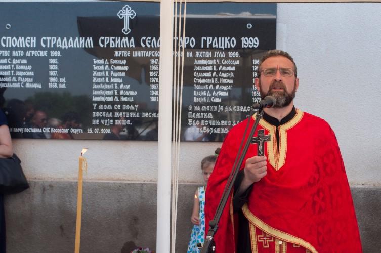 Козарев у Старом Грацком на парастосу убијеним жетецома