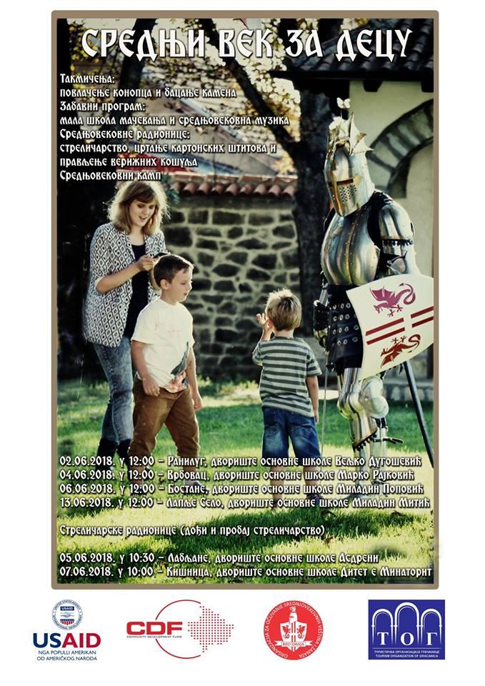 """""""Средњи век за децу"""", мултиеничка манифестација у организацији """"Реда змаја"""""""