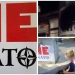 """Dveri pitaju, šta znači uništavanje plakata """"Ne u NATO""""?"""