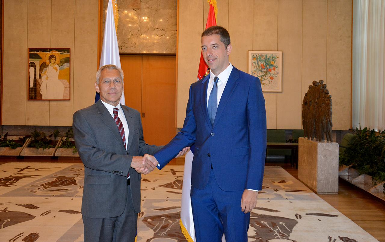 Prvi sastanak Đurića i ambasadora RF u Srbiji Aleksandra Horčenka