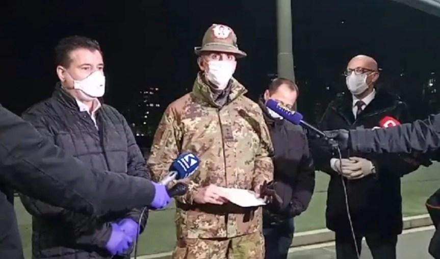 Командант КФОР-а са градоначелницима Северне и Јужне Митровице на главном ибарском мосту: Грађани поштујте препоруке лекара и институција