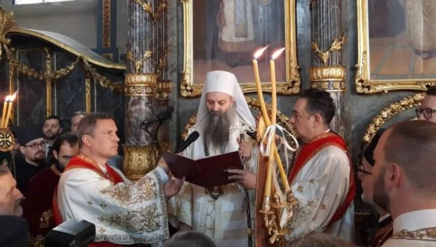 Патријарх Порфирије у Пећкој Патријаршији