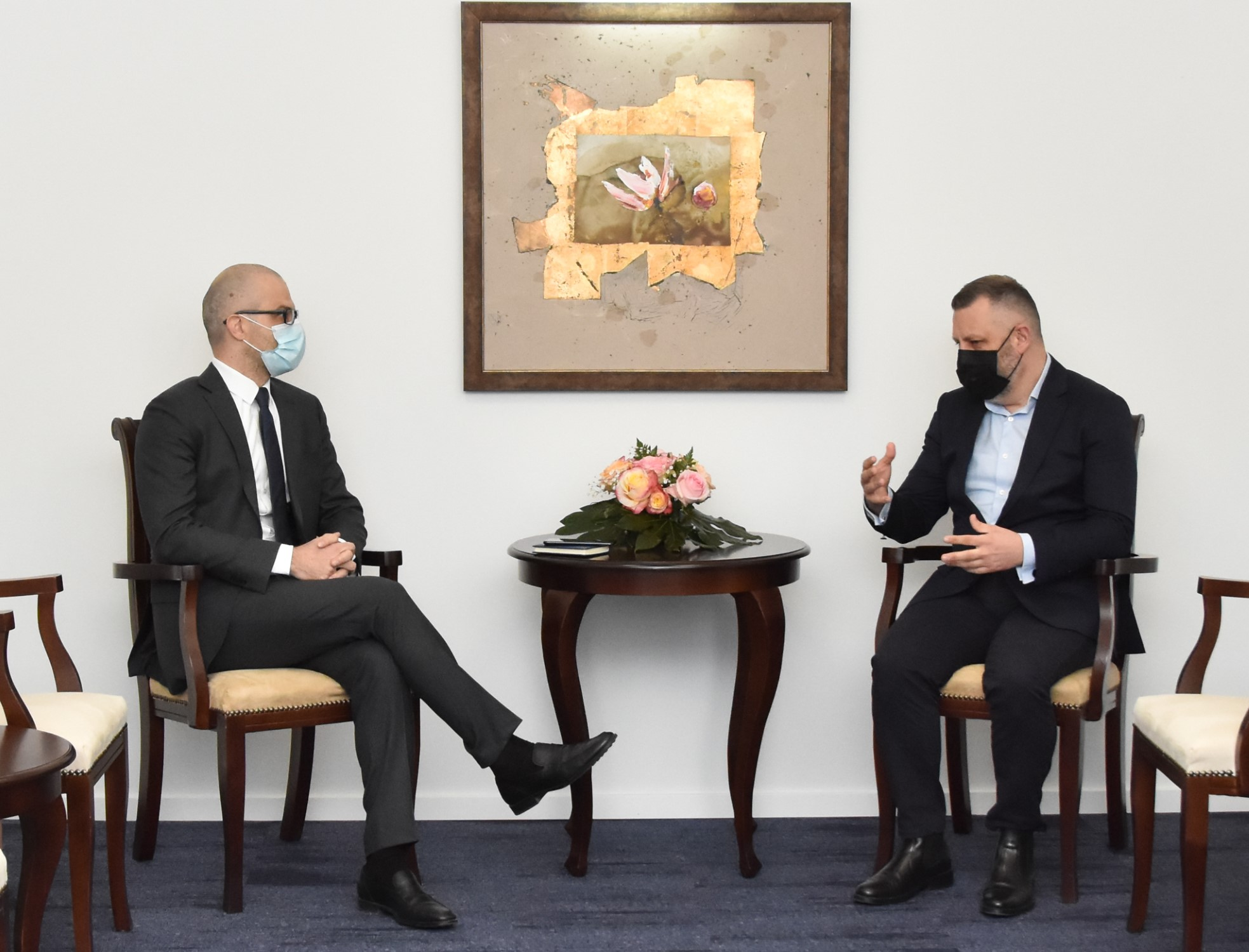 Далибор Јевтић са амбасадором Италије: Насиље у друштву је недопустиво