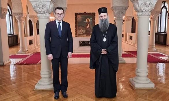 Петковић и патријарх Порфирије о заштити и обнови храмова СПЦ на Косову и Метохији