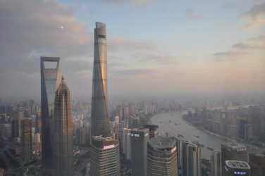 View from Oriental Pearl Tower in Shanghai, China