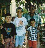 Ben, Nana, Alex and Joe 1996