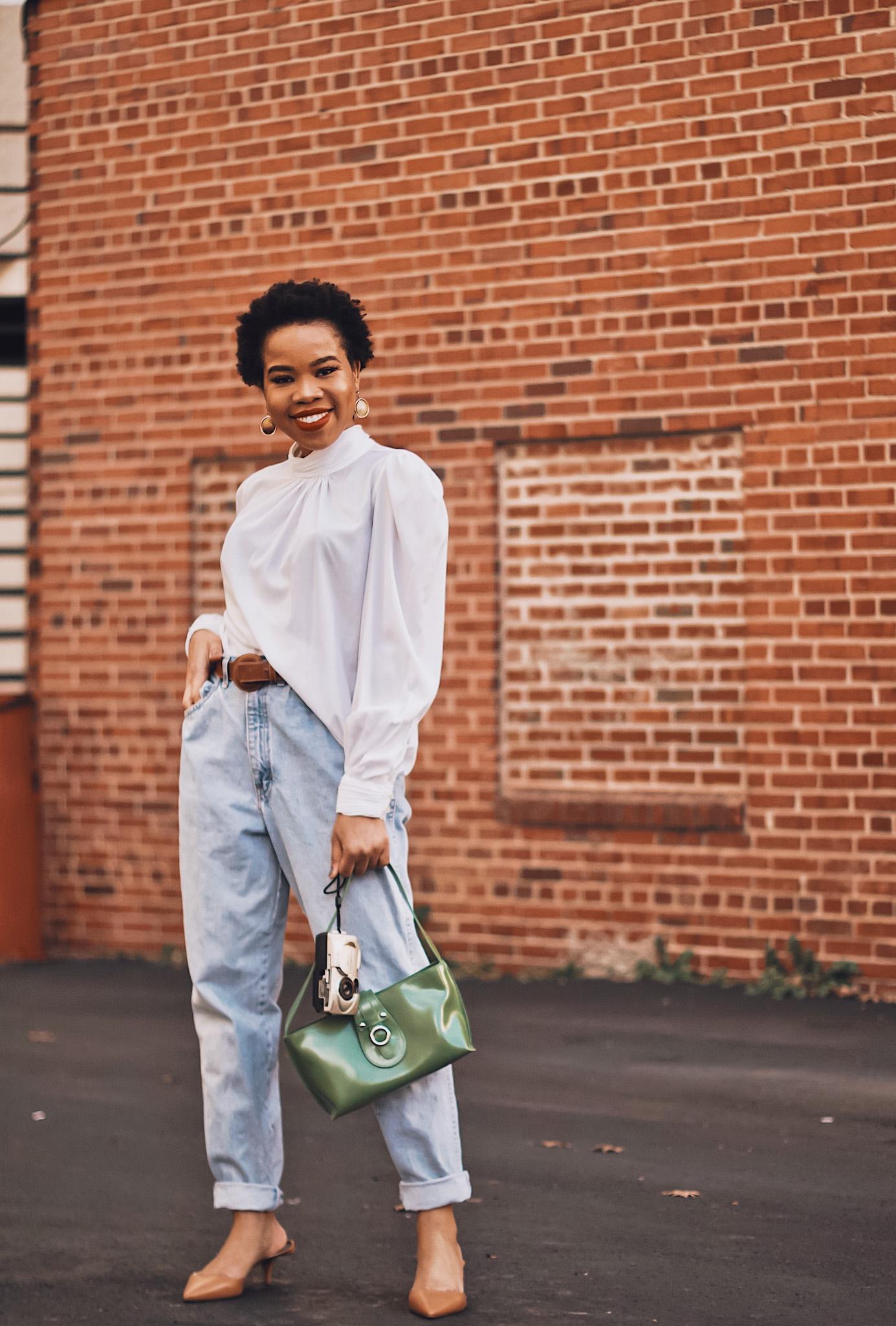 Vintage Jeans on Black Girl