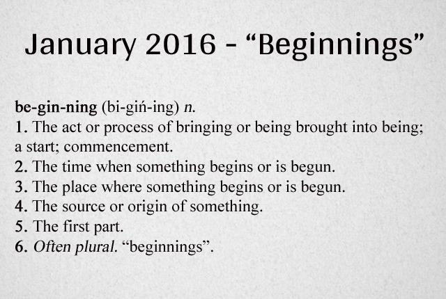 Beginning Definition