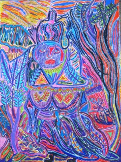 "untitled 24"" x 18"" multi media on paper 2011"