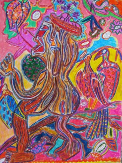 "untitled 24"" x 18"" mixed media on paper 2011"