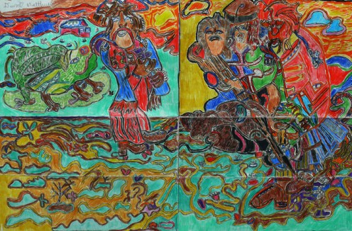 """untitled 18"""" x 24"""" mixed media on paper 2010"""