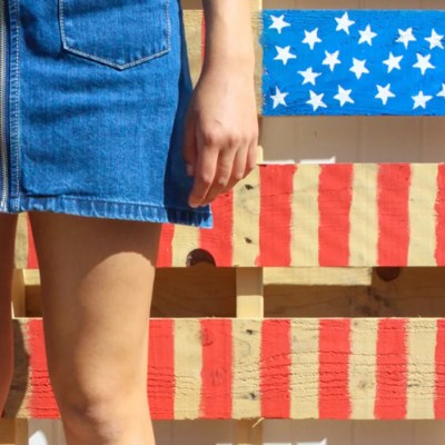 DIY Wood Pallet American Flag