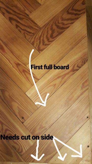 DIY Bench Choosing 1st Board Placement