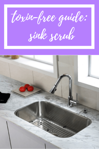 Toxin-Free Guide Sink Scrub #graceblossomsblog #diy #thieves #youngliving #kitchen