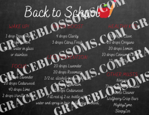 essential oil back-to-school printable post card