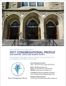 Cover of the Congregational Profile