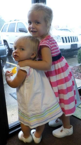 Evie & Harper Aug 2014