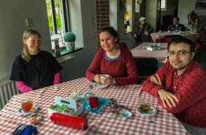 In the tea room, Harkema