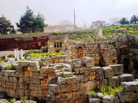 Ancient and modern Corinth, Greece