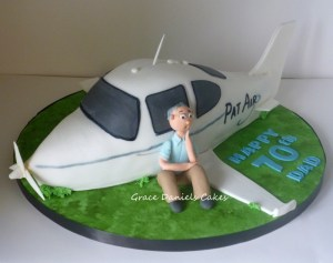 A Plane Ly Decorated Cake Bakingwithgrace