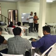 Hans teaching the pastors
