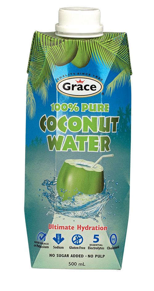 iced coconut water coffee grace