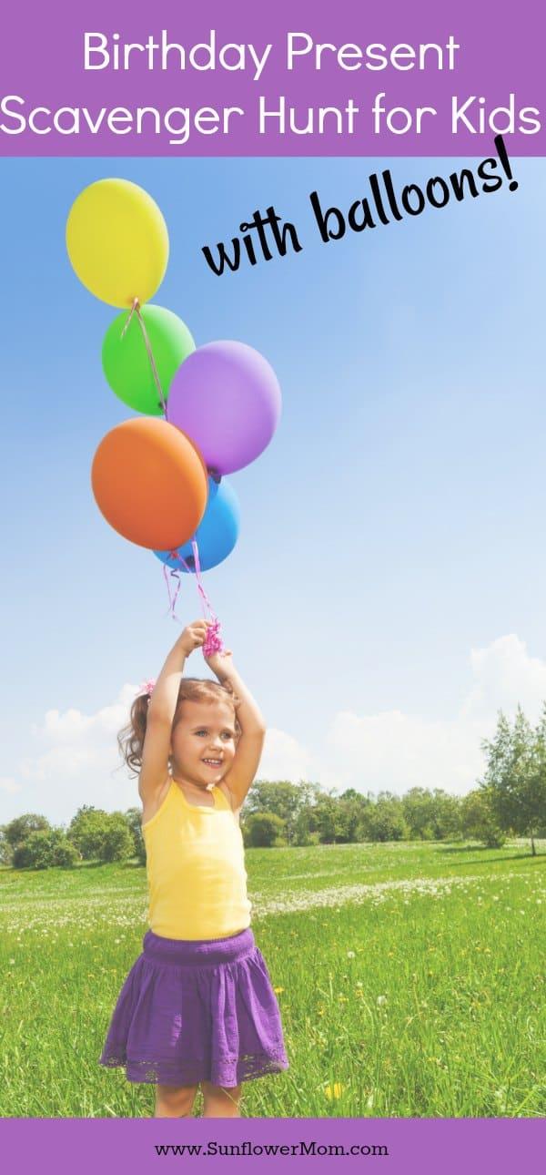 Birthday Present Scavenger Hunt for Kids