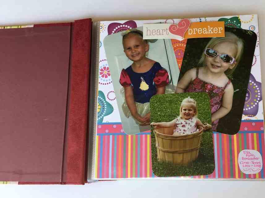 scrapbook of little girl