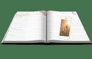 prayer journal and phone screensaver
