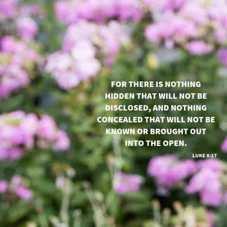 Luke 8:17