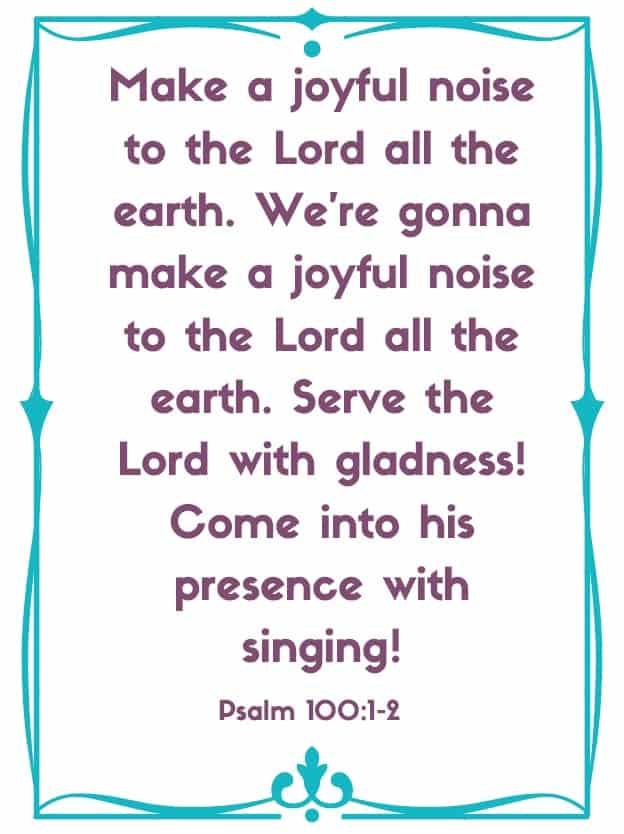"Bible Memory Verses: ""M"" Psalm 100: 1-2"