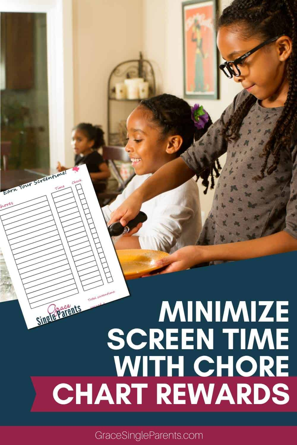 Chores for Kids to Minimize Screentime Plus Free Chore Chart