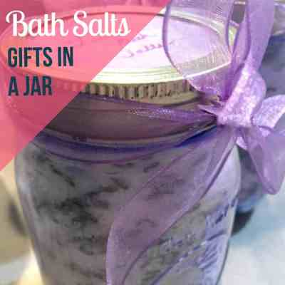 bath salts gift in a jar