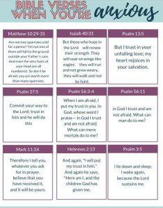 bible verses anxious