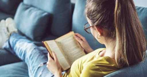 mom reading book