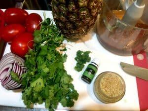 fresh pineapple salsa ingredients