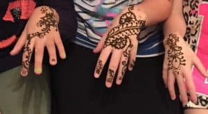 henna hands for birthday party