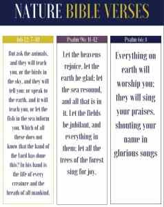 nature bible verse bookmarks