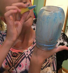 painting mason jar gift