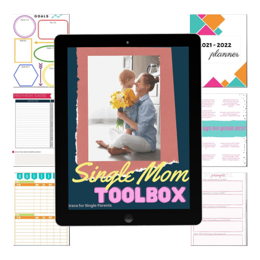 Grab 10 years of my Personal Resources in the Single Mom Toolbox to be the BEST single mom you can be!