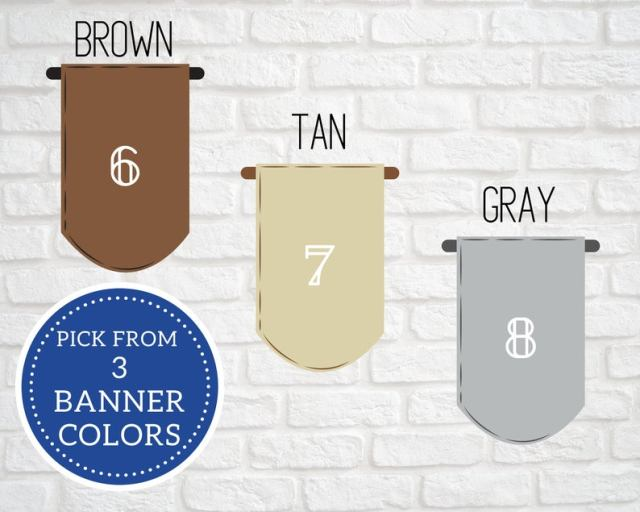 pick from 3 banner colors